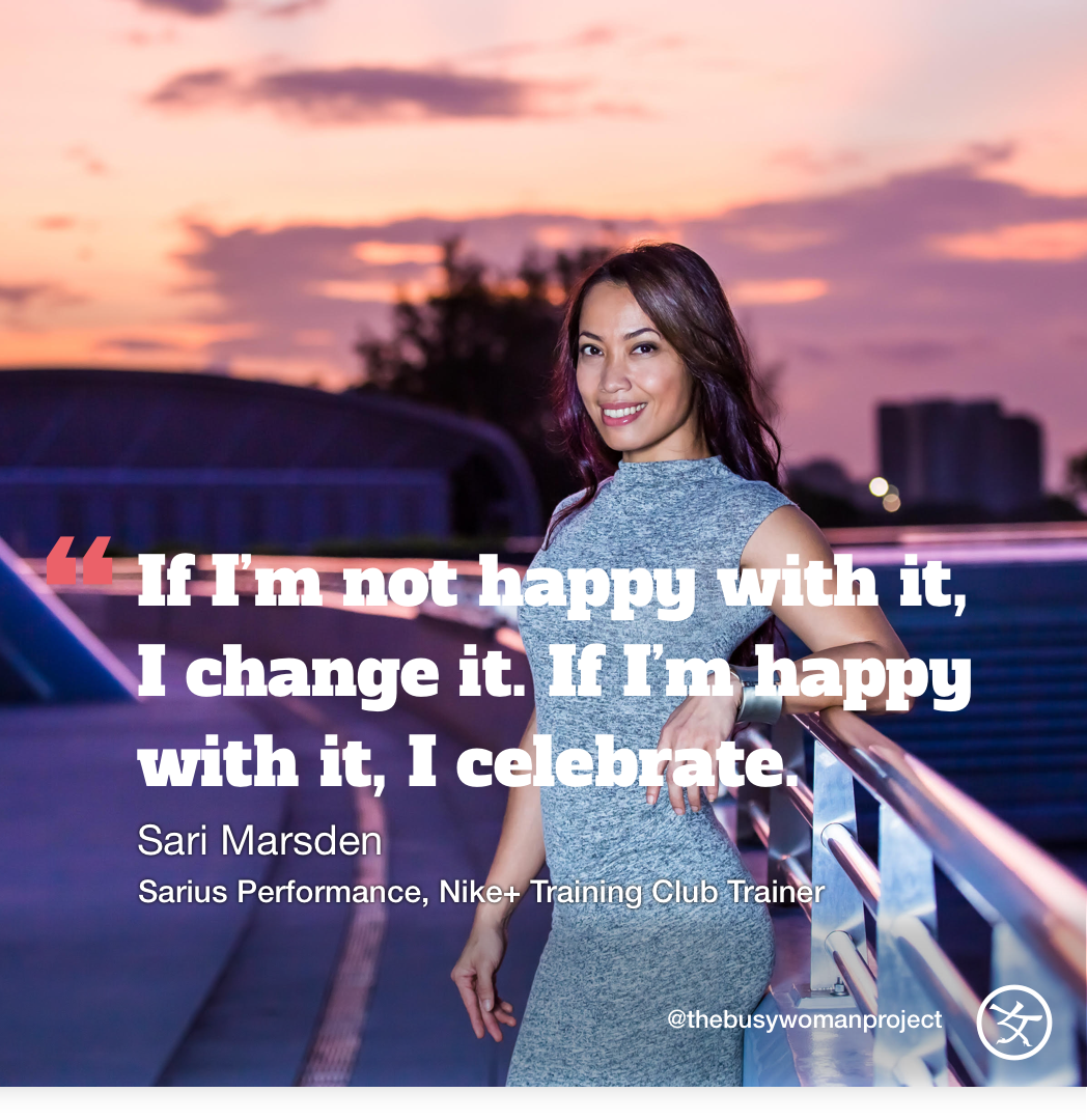 #BUSYWOMENINSPIRE: Sari Marsden, Co-founder Sarius Performance, Nike+ Training Club Trainer