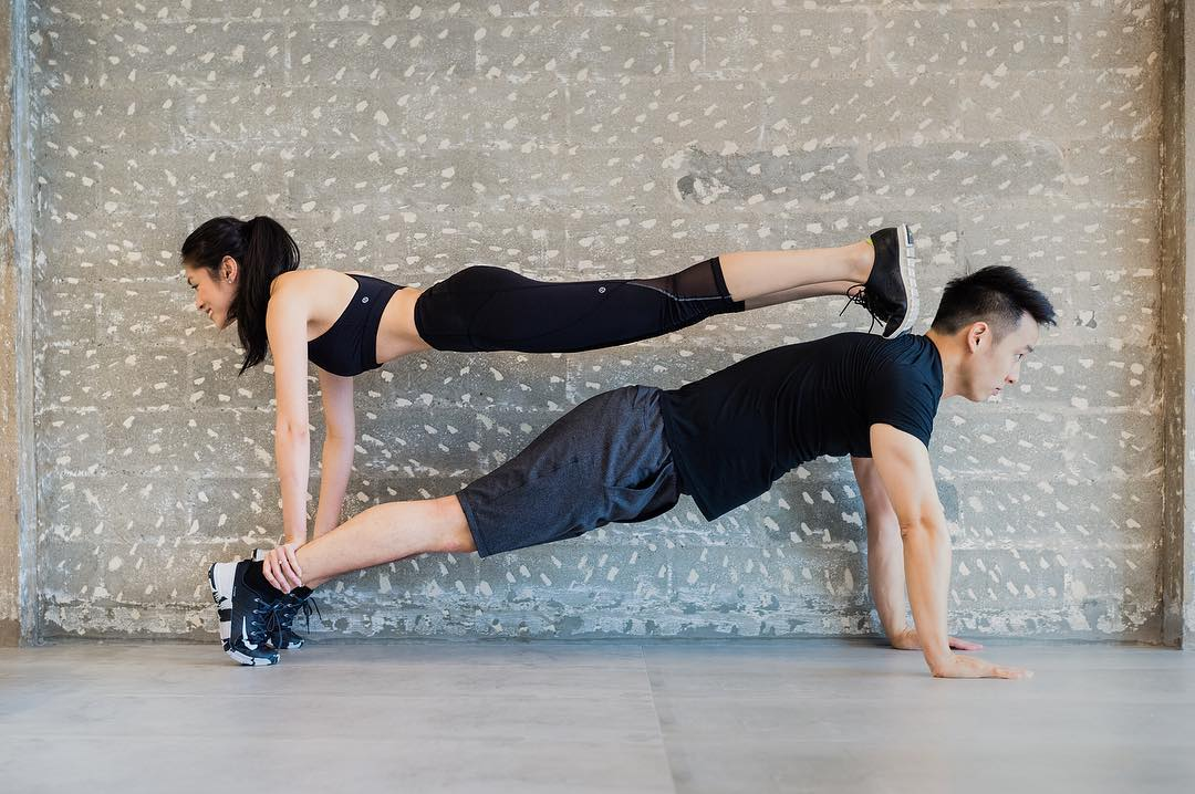 victoria martin bryan tay partner workout plank