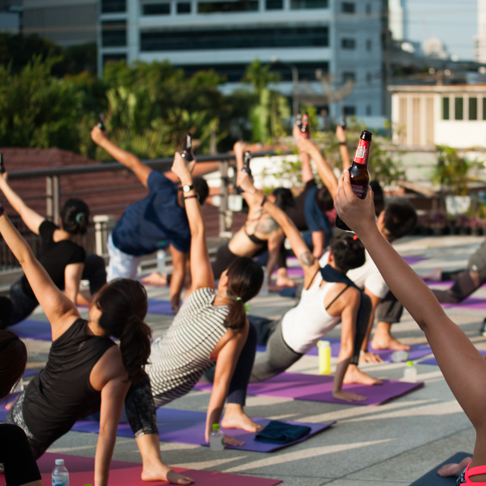 Thailand's version of 'Beer Yoga': Brew Yoga - an alternative to the Bar or Gym?
