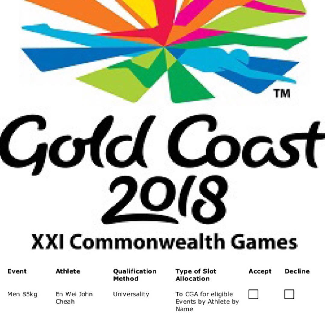 commonwealth games 2018 singapore weightlifting